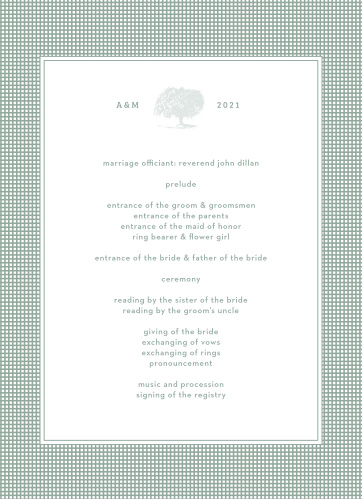 MaeMae's Willow Wedding Programs