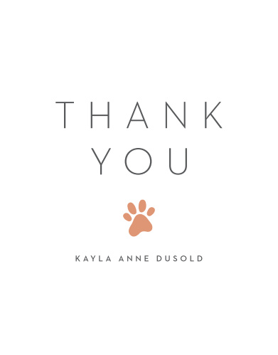 Animal Print Graduation Thank You Cards