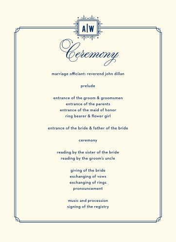 MaeMae's Jack Wedding Programs