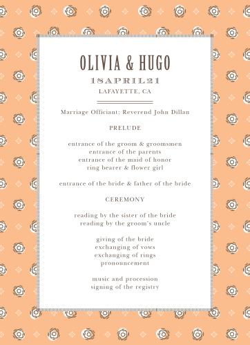 MaeMae's Hugo Wedding Programs