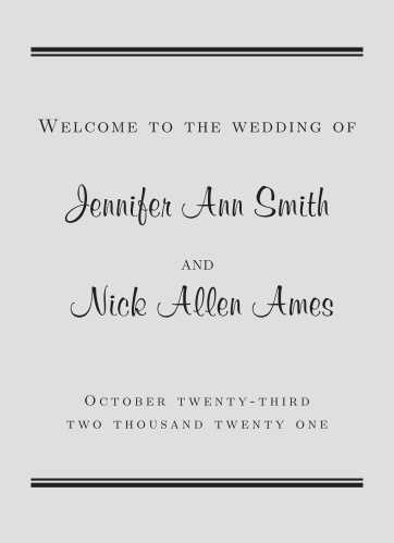 Perfectly Personalized Wedding Programs