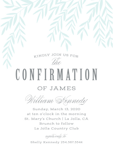 Confirmation Invitations Hosted Exclusively By Basic Invite