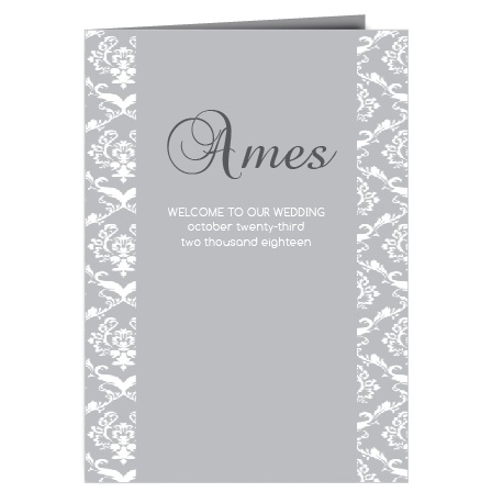 The Damask Sides Wedding Programs