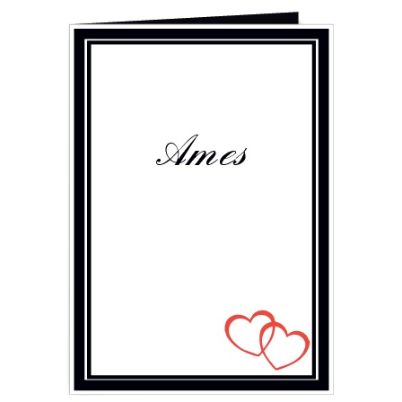 The Double Hearts Wedding Programs