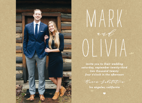 Big Type Wedding Invitations