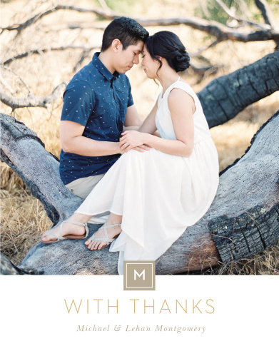 Simply Stated Wedding Thank You Cards