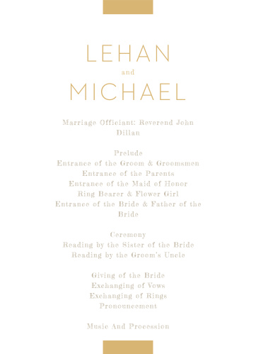 Simply Stated Wedding Programs