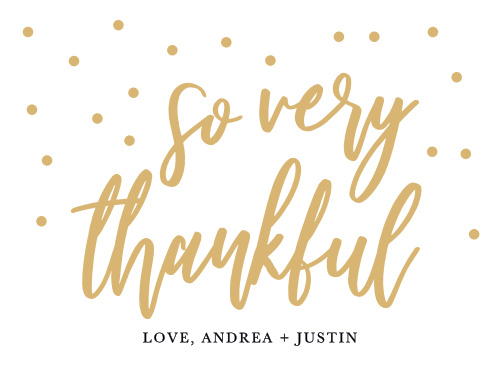 Golden Excitement Wedding Thank You Cards
