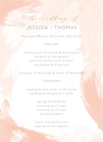 Watercolor Strokes Wedding Programs