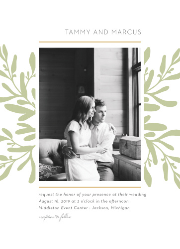 Fern Flock Wedding Invitations