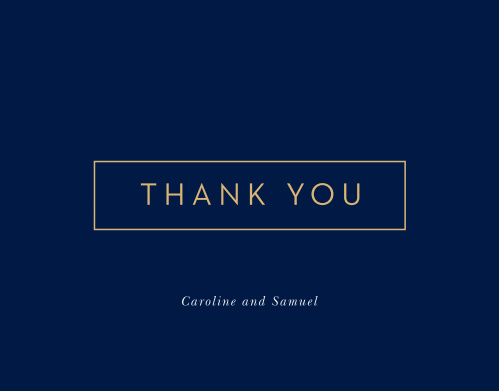 Strong Steel Wedding Thank You Cards