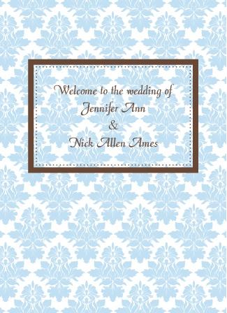Vintage Elegance Wedding Programs