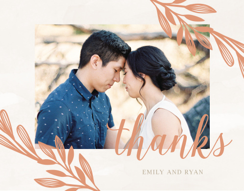 Hexagon Botanicals Wedding Thank You Cards