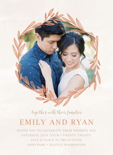 Geometric Wedding Invitations Match Your Color Style Free