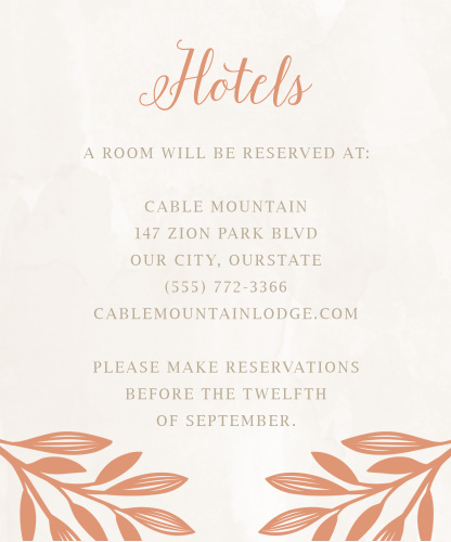 Hexagon Botanicals Accommodation Cards