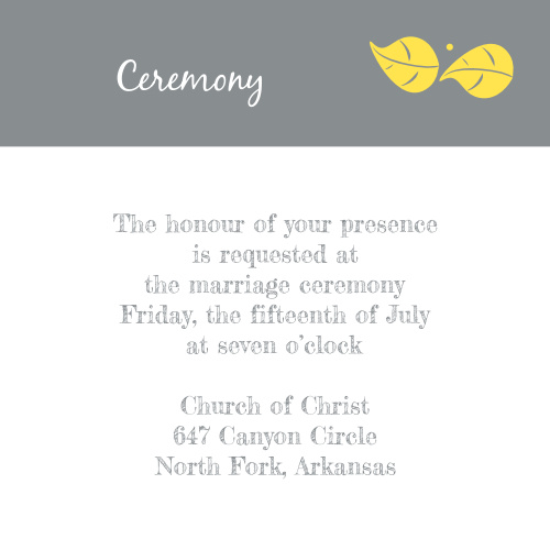 Whimsical Love Birds Ceremony Cards