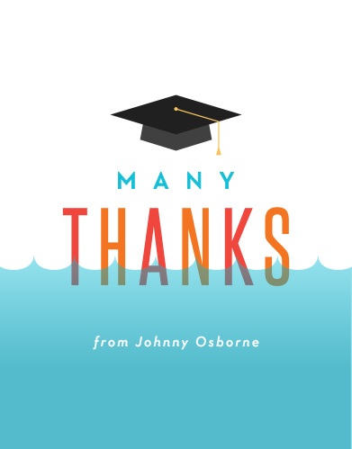 Pool Dive Graduation Thank You Cards