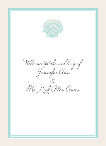 Tiny Seashell Wedding Programs