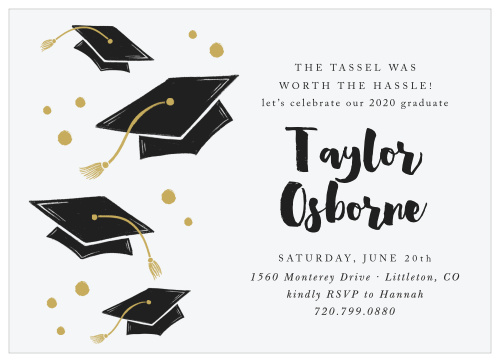picture relating to Free Printable Graduation Party Games named 2019 Commencement Bulletins Invites For Large College or university
