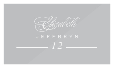 Personalised Flat Place Name Cards-Party//Wedding Vintage Brown Kraft//White//Ivory