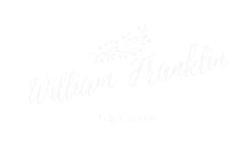Floral Calligraphy Clear Place Cards