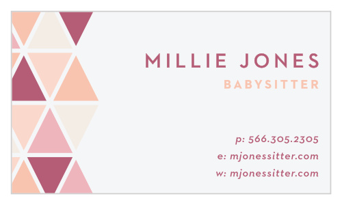 Babysitting Business Cards Match Your Color Style Free