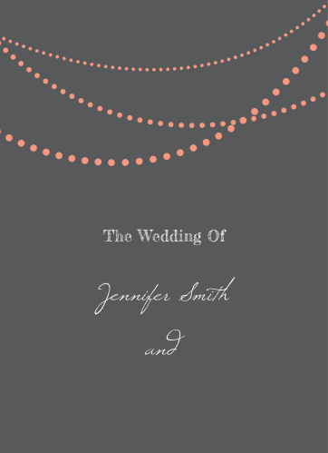String Lights Wedding Programs