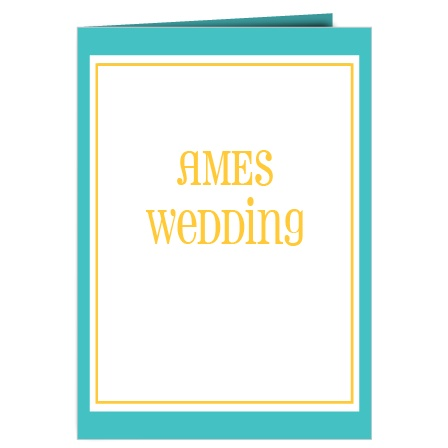 The Bordered Fun Wedding Programs