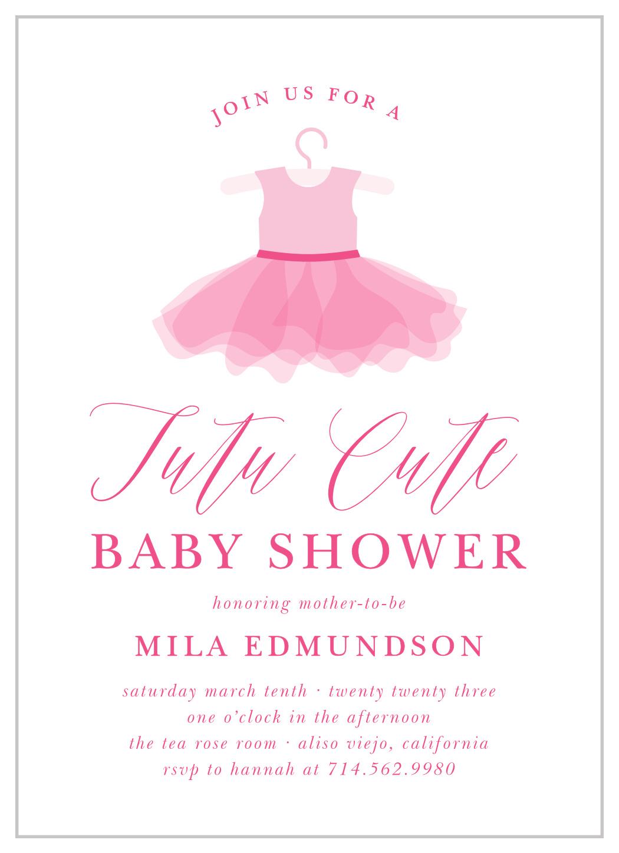 Ballet Tutu Baby Shower Invitations By Basic Invite