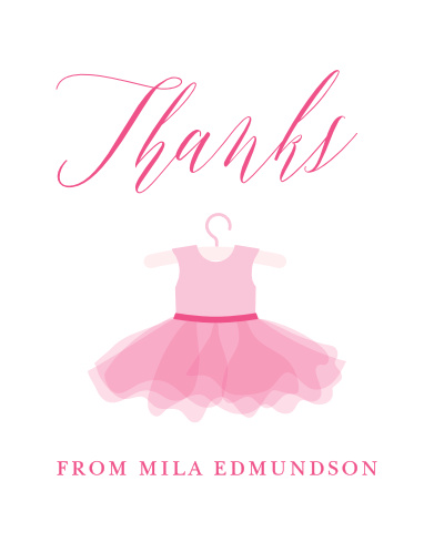 Ballet Tutu Baby Shower Thank You Cards