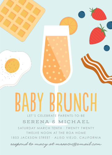 Baby Shower Brunch Invitations Match Your Color Style Free