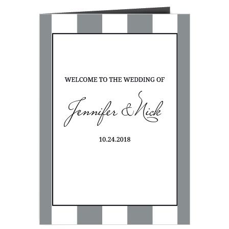 The Elegant Stripes Wedding Programs