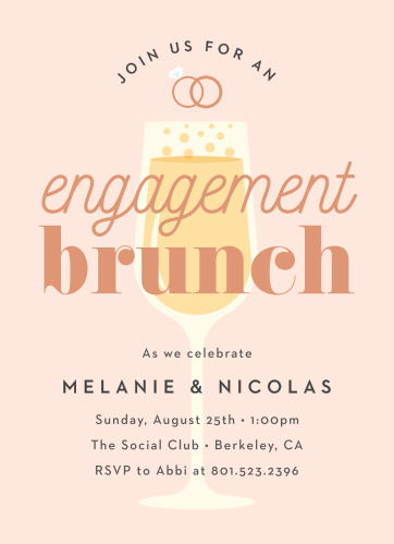 Fun Engagement Party Invitations Match Your Color Style Free