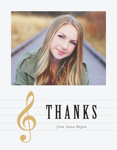 Musical Graduate Graduation Thank You Cards