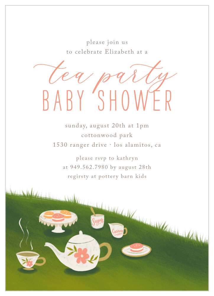 Afternoon Tea Party Baby Shower Invitations By Basic Invite