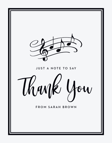 Musical Grad Graduation Thank You Cards