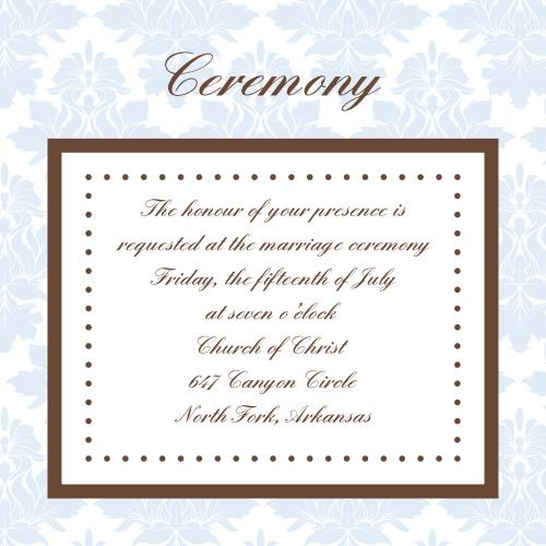 Vintage Elegance Ceremony Cards