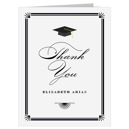 Valedictorian Grad Graduation Thank You Cards