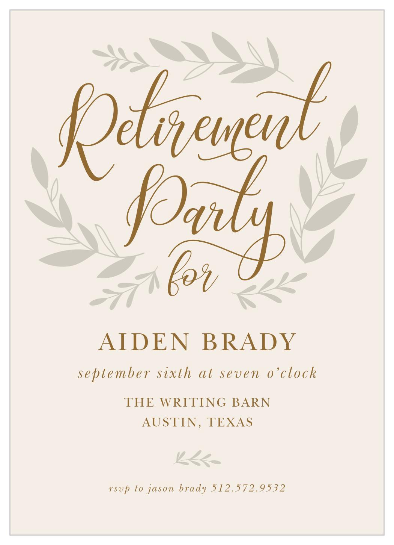 fall sprigs retirement invitationbasicinvite