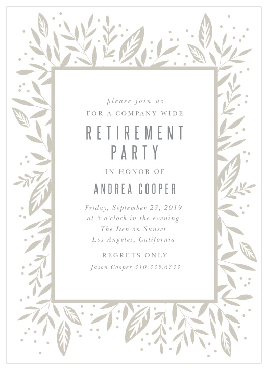 Elegant Retirement Party Invitation for Women or Men Black and Gold Retirement Invitations with Envelopes Your choice of Quantity and Envelope Color