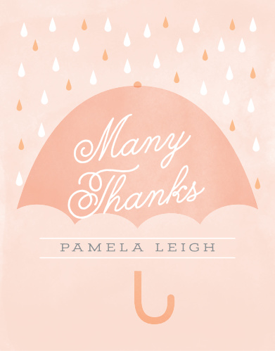 Big Umbrella Baby Shower Thank You Cards