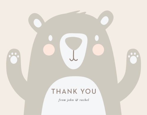 Bearly Wait Baby Shower Thank You Cards