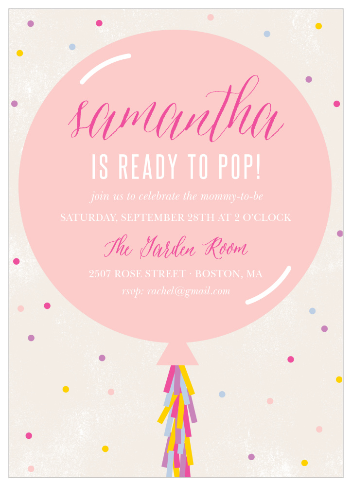 Ready To Pop Baby Shower Invitations By Basic Invite