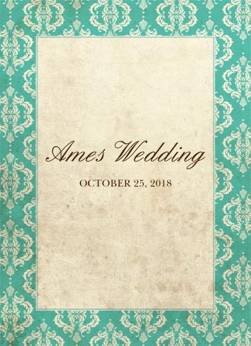 Old World Vintage Wedding Programs