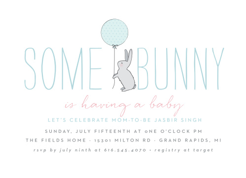 Bunny Baby Shower Invitations Match Your Color Style Free