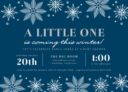 9bcc4d184 Winter Baby Shower Invitations - Match Your Color & Style Free!