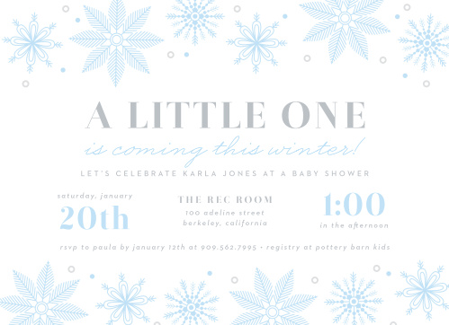 Winter Baby Shower Invitations Match Your Color Style Free