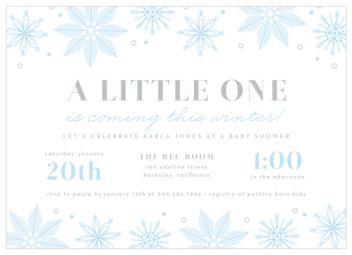 Snowflake Baby Shower Invitations - Match Your Color & Style