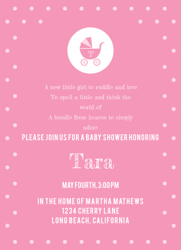 Stroller Baby Shower Invitations Match Your Color Style Free