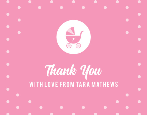 Iconic Carriage Baby Shower Thank You Cards